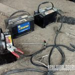 To begin the welding process, make sure to have multiple batteries set up.