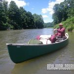 A 17-foot canoe can carry 700 pounds of passengers and camping gear.