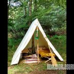 A well-appointed canvas tent is great for camping.
