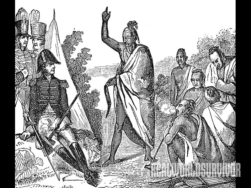The Treaty with the Creeks, a Native American group, was signed in 1814.