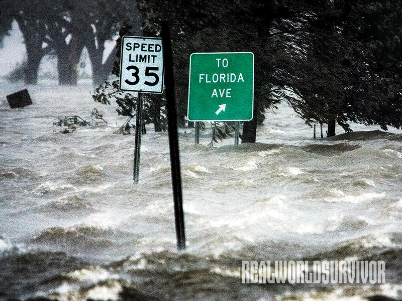 Flooding is one of the destructive parts of a hurricane.