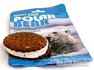 Polar Bear Freeze Dried Cookies & Cream Ice Cream food