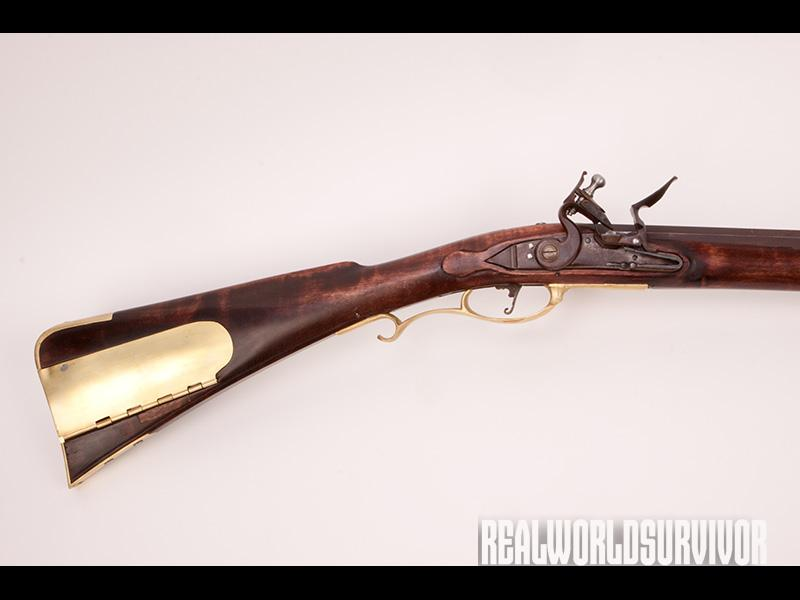 The author built his flintlock longrifle from from Track of the Wolf's Bucks County rifle kit.