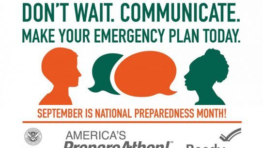 Get equipped to handle disasters during this year's National Preparedness Month in September.