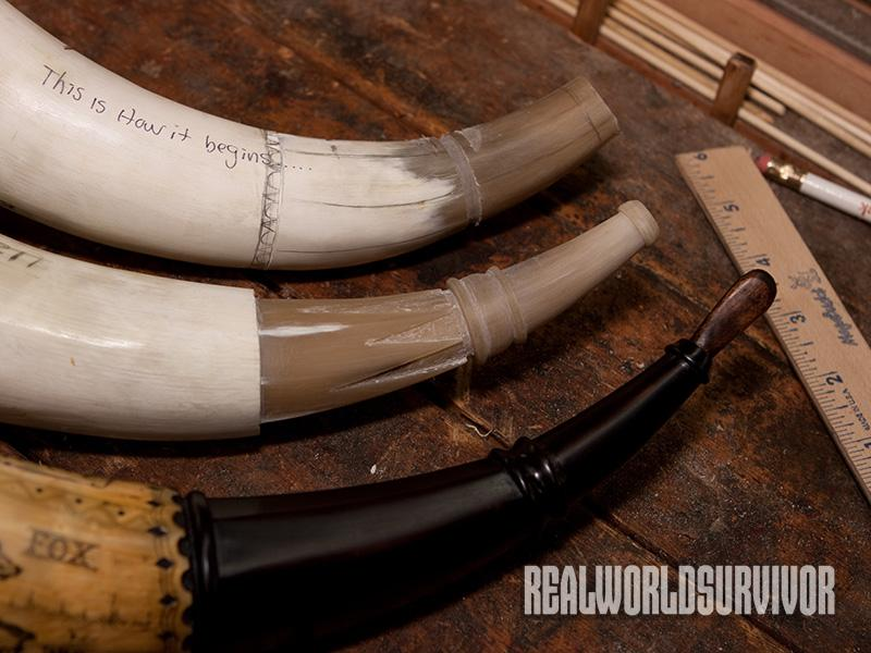 The process of a powder horn.