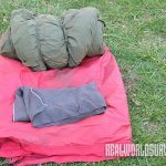 You can get a sleeping bag at a yard sale.