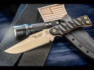 TOPS Knives has a new tactical and field knife called the Team Jackal Survivor