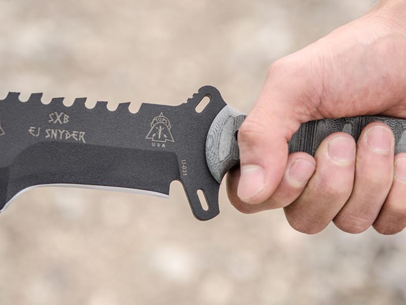 TOPS Knives SXB Skullcrusher's Xtreme Blade grip
