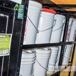 Trailer bucket storage