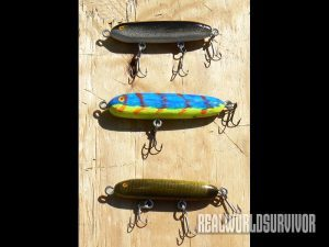 Freshwater lures made by the author.