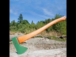 The Hudson Bay Axe is great for splitting wood.