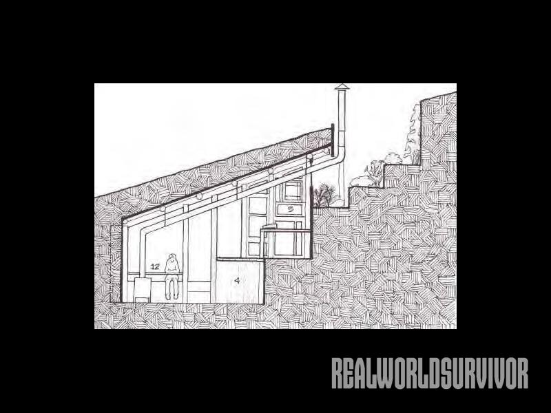 Drawing of underground house.