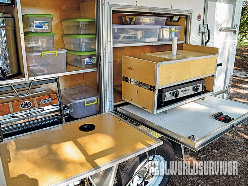 Access gear easily in a Bug-Out Survival Trailer.