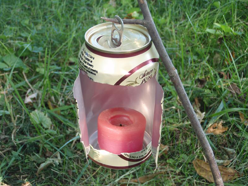 Beer Can Candle lantern