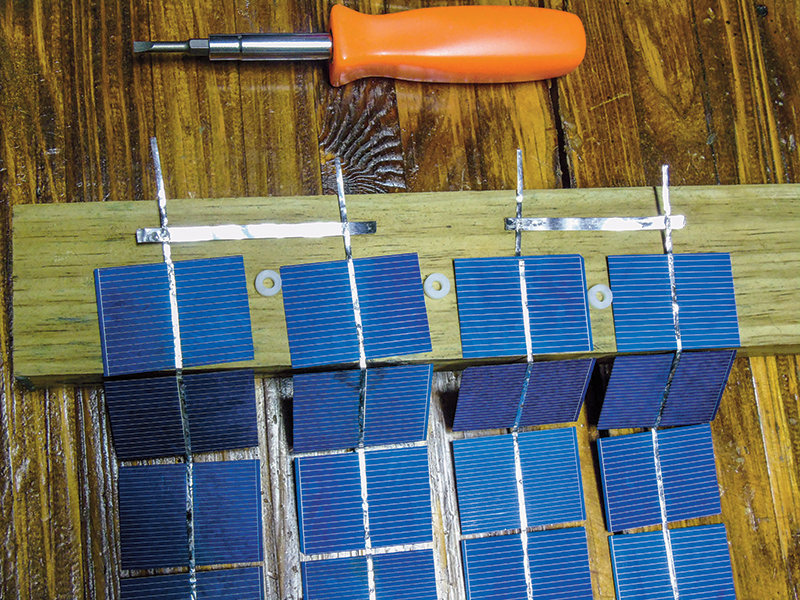 Lofty Energy Solar Panel Soldering