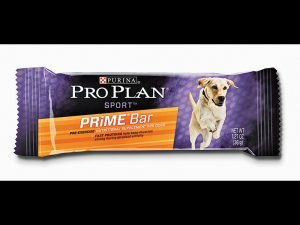 A mountain man with a dog? Make sure to get the Purina PRO Plan Bars.