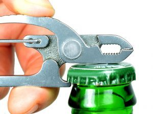An additional feature of the Screwpop plier is it can also act as a bottle opener.