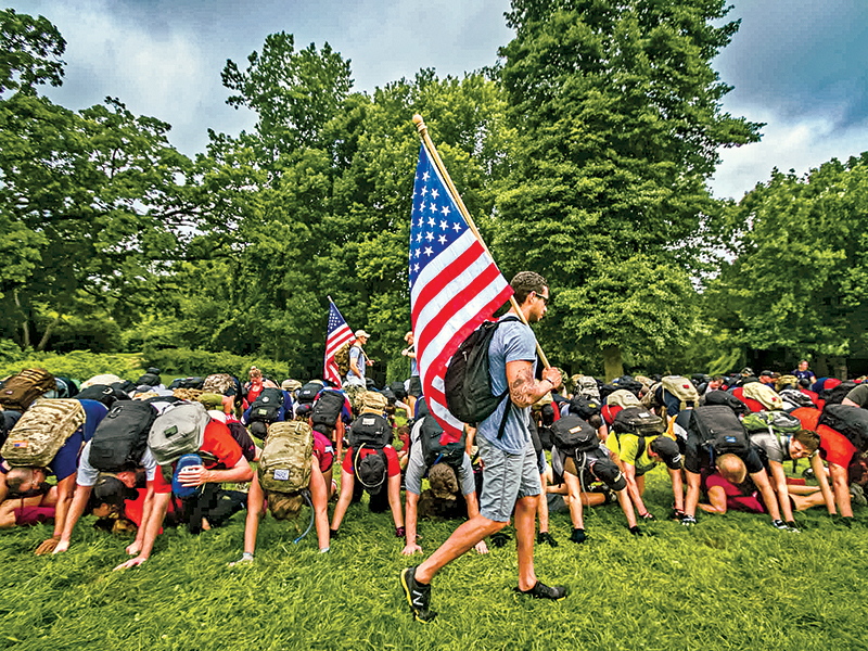 Each GORUCK team must carry the American flag.