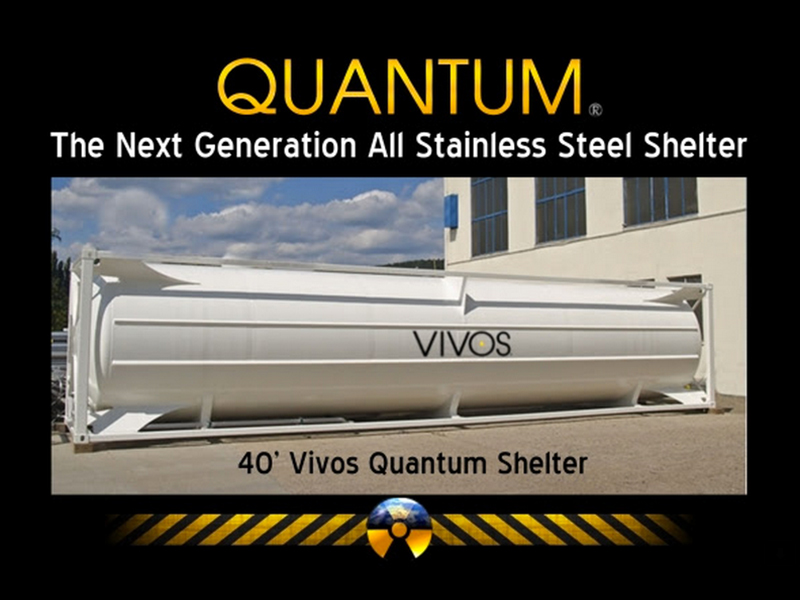 Vivos 40-Foot Quantum Stainless Stell Shelter