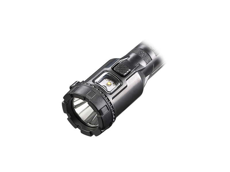 The head of Streamlight's 3AA ProPolymer Dualie in black.