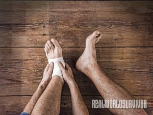 foot care, foot, survival, self-reliance, foot survival, foot injury, toe up