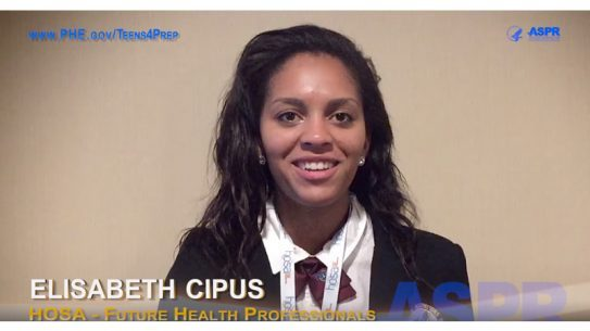 Elisabeth Cipus is learning cultural competency to help her community during a disaster.