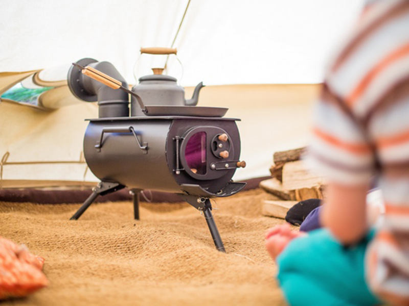Anevay's Frontier Plus is a portable stove, small enough to fit in sheds, tents, vans and more.