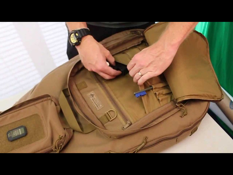 Use a guitar case as a survival bag.