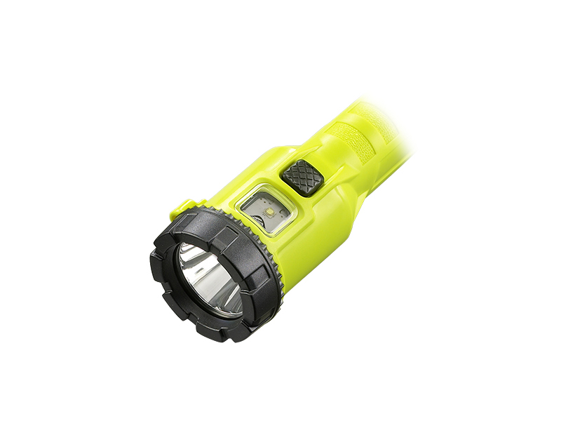 The head of Streamlight's 3AA ProPolymer Dualie in yellow.