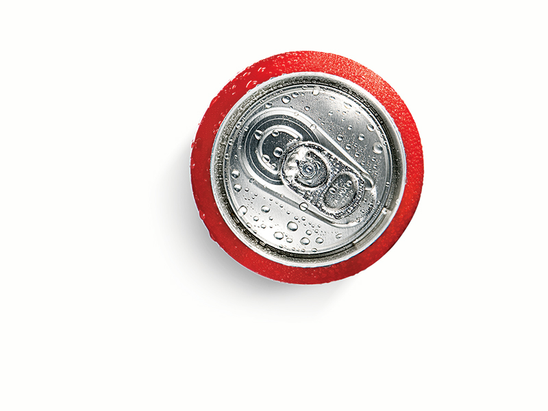 Soda cans can act as lifesaving rain collectors.