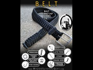 Prepinstein Designs Paracord Survival Kit Belt, EJ Snyder