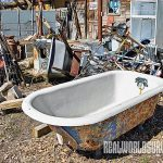Claw-footed bathtubs are popular treasures.