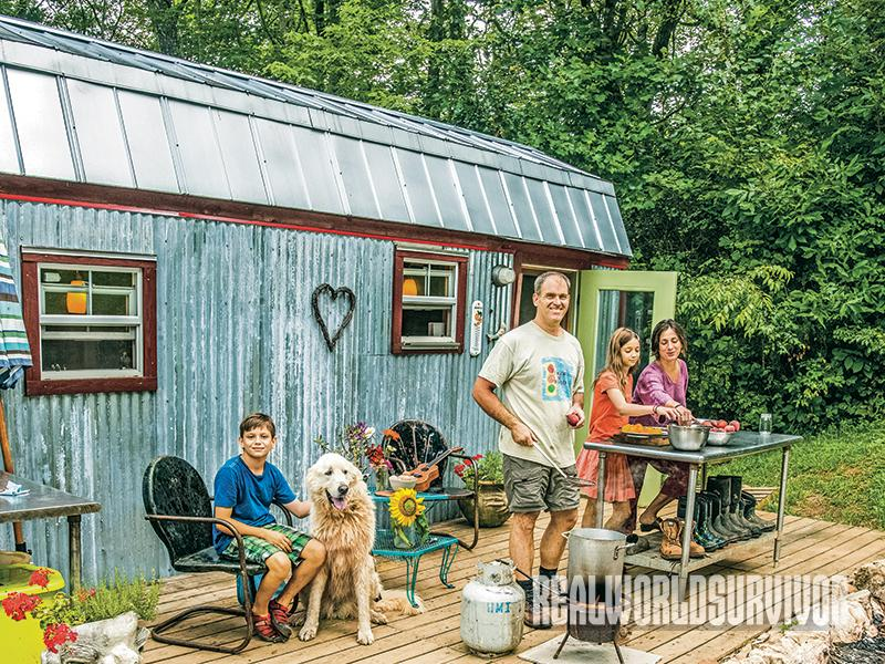 The Berzins make great use of their tiny house.