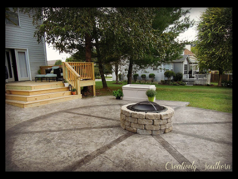 Outdoor firepit DIY Project