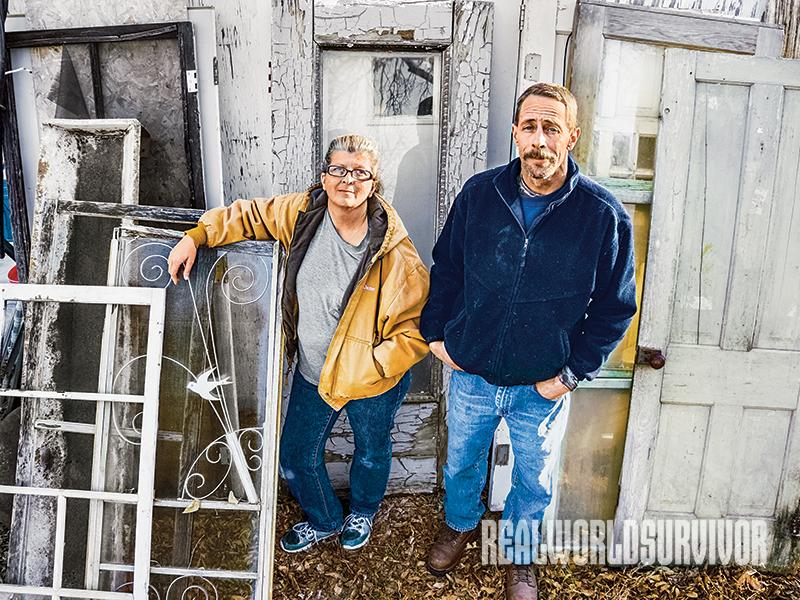 Jane and Fred Ridpath recycle at least 70 percent of their treasure teardowns.