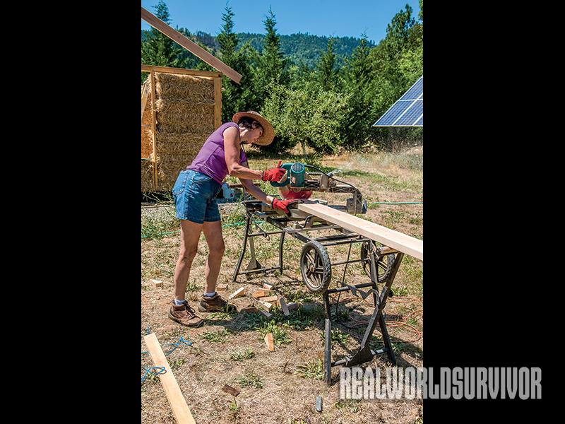 Whether Gianaclis is building a tiny house, or working on another project, she finds the work therapeutic.