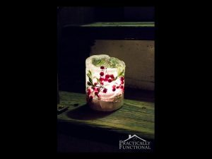 Ice lantern DIY project