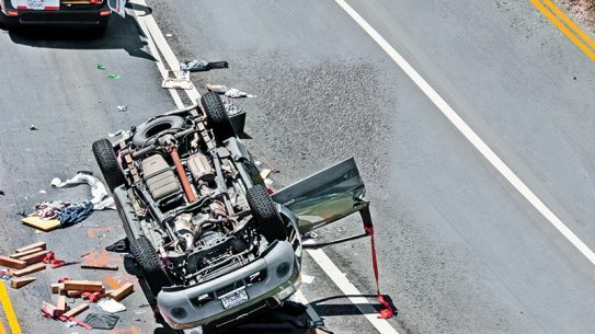 Steps to escape an overturned vehicle