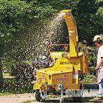 Use wood chips as mulch instead of shredded bark.