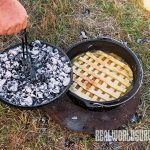 Invest in a lid lifter for your Dutch oven.