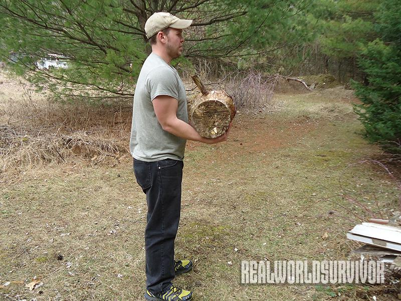 Use logs in place of weights to prep for survival.