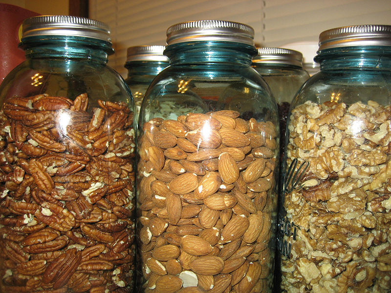 Mason jars can optimize space in your tiny house.