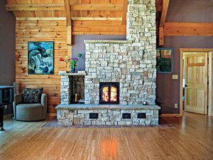 Masonry heater double-wall system