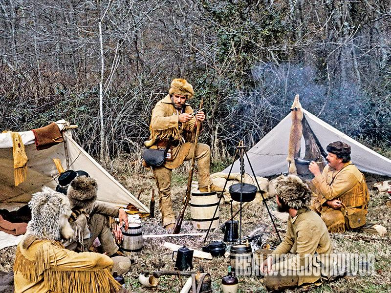 Mountain men used Dutch ovens on their base camps.