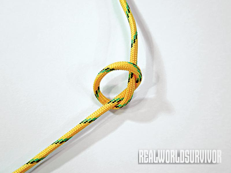 Learn to tie an overhand knot.