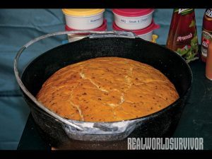 Use your Dutch oven to bake potbrood.