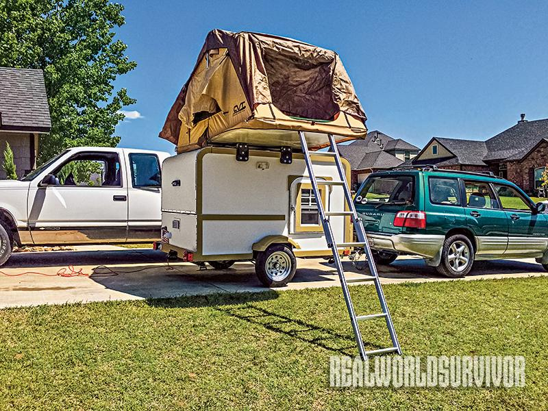 The camper rooftop tent.