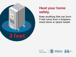 Heating fire safety tips