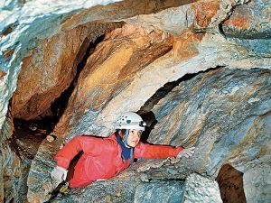 Mountain climbing and spelunking caution
