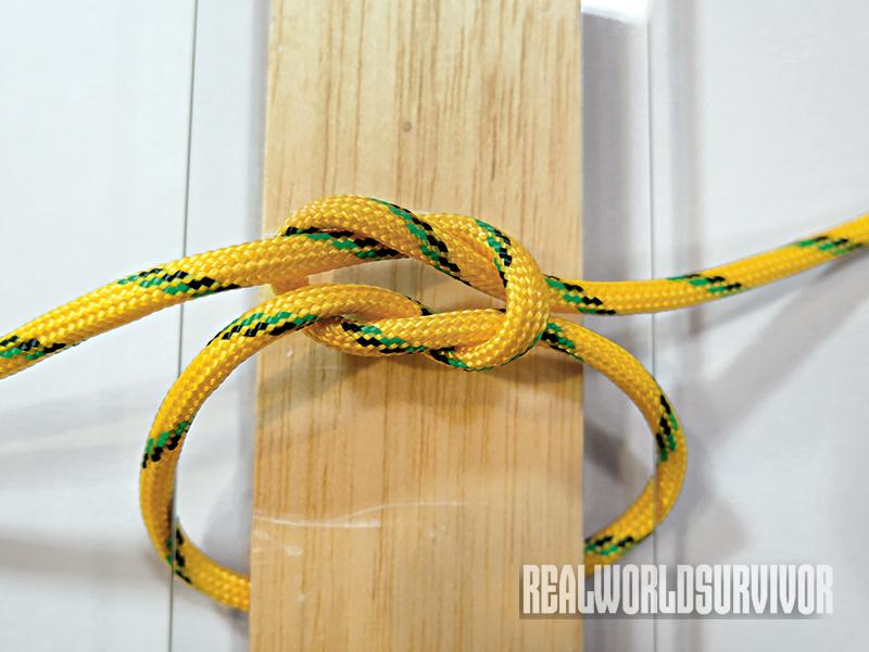 Learn to tie a square knot.